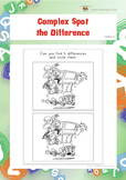 Complex Spot the Difference (Visual Perception Worksheets)