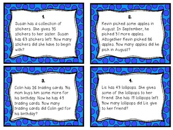 Complex and Compare Word Problem Task Cards