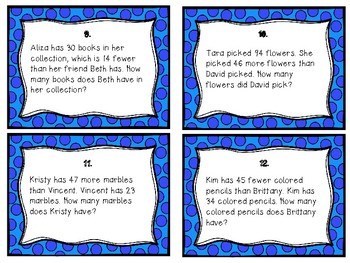 Math Expressions Complex and Compare Word Problem Task Cards