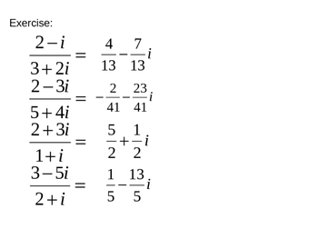 Complex numbers - PowerPoint
