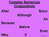 Complex sentences conjunctions poster