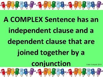 Complex sentences poster