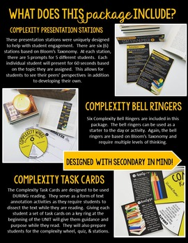 Complexity Wheel Informational Text Package: For ANY Text Grades 7-12