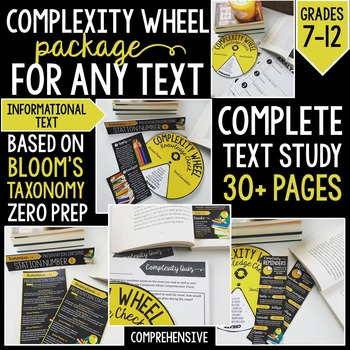 Complexity Wheel Informational Text Package: For ANY Text