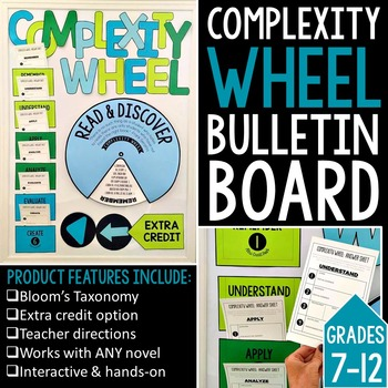 Complexity Wheel Interactive Bulletin Board for ANY Novel