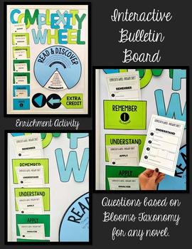 Complexity Wheel Interactive Bulletin Board for ANY Novel: Grades 4-8