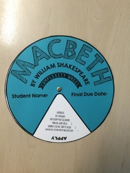 Complexity Wheel: Macbeth by William Shakespeare