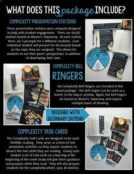 Complexity Wheel Novel Study Package: For ANY Novel Grades 7-12