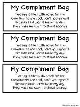 Compliment Bags: Back to School Classroom Community