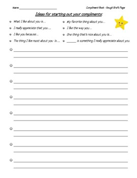 Compliment Book - A Positive Elementary Project!