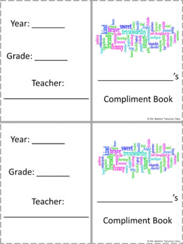 End of Year Compliment Book or Memory Book
