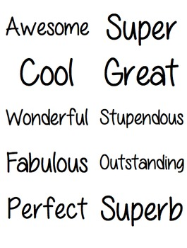 Compliment Bucket Filler Words {Avery 5163 Labels}