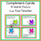 Bucket Filler Compliment Cards A Warm Fuzzy From Your Teacher