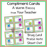 Compliment Cards A Warm Fuzzy From Your Teacher