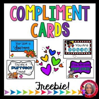 Compliment Cards- Mini Awards Freebie