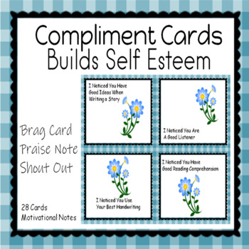 Compliment Cards Positive Notes for Affirmation