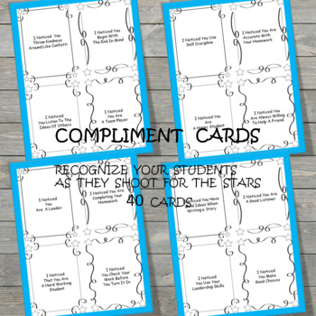 Compliment Cards Shoot for the Stars