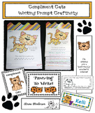Compliment Cats!  Writing Prompt Craft + Bookmarks: Great Bucket Filler