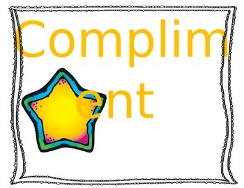 Compliment Chain Poster Freebie