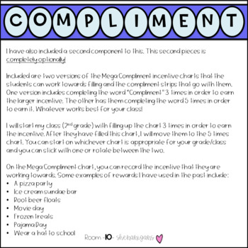 Compliment Chart