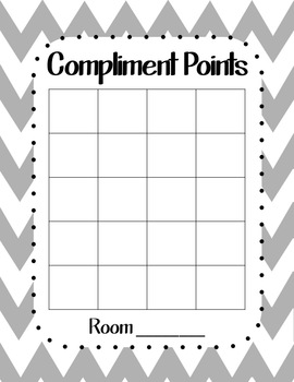 Compliment Charts in English and Spanish