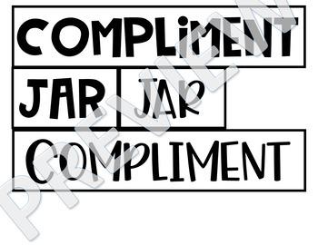 Compliment Jar Freebie