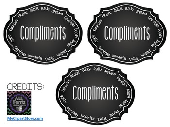 Compliment Jar Label