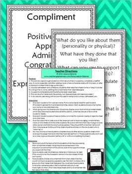 Compliment Sharing: An Unselfish Kindness & Self-Esteem Building Activity