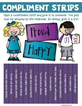 Classroom Community Compliment Strips