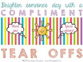 Compliment Tear Offs