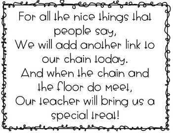 Compliment chain- a classroom management tool!
