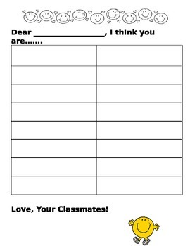 Compliments from your classmates!