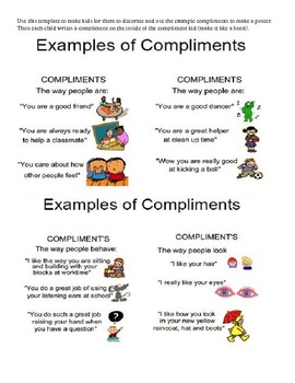 Compliment kid Activity