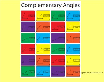 Complimentary Angles Worksheet