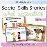 SOCIAL SKILLS  Friendship Behaviors {Stories and Activities, Pack 1}