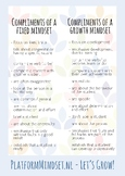 Compliments and their traits _ for fixed and growth mindset