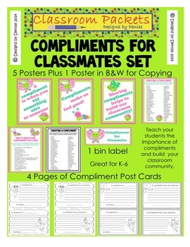 Compliments for Classmates Poster and Post Card Set
