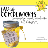 Compliments in a Jar End of the Year Student Gift from Teacher