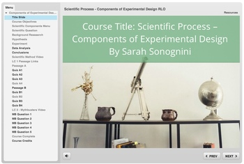 Components of Experimental Design Learning Module - SCORM