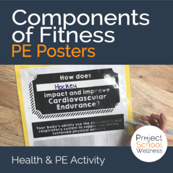 Components of Fitness - PE Activity Posters (Middle School