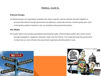 Components of Government PowerPoint and Research Project