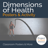 Dimensions of Health Posters & Activity (Health Lesson Plans, Classroom Posters)