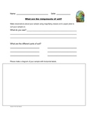 Components of Soil Worksheet, Science Observations