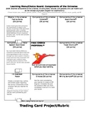 Components/Objects in the Universe Learning Menu/Choice Board w/ RUBRICS