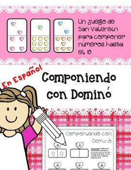Componiendo con Dominó *VALENTINE'S DAY* Spanish Composing