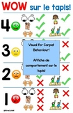 Affiche de comportement sur le tapis!  Visual Poster for s