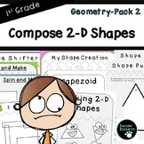 Compose 2-D Shapes-Geometry Pack 2  (First Grade, 1.G.2)