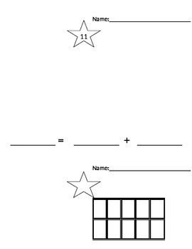 Compose & Decompose Numbers 0-30 Template