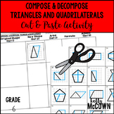 Compose & Decompose Triangles and Quadrilaterals Cut & Paste Activity
