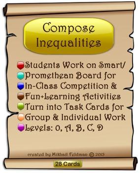 Inequalities: Compose & Solve. 28 On-Board Activities, Tas